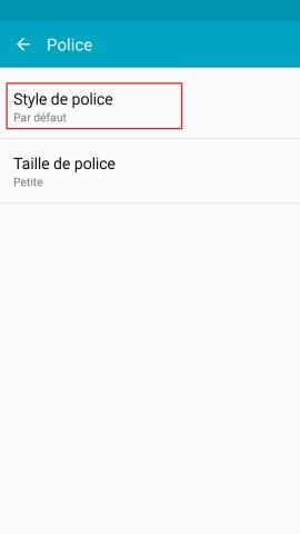 Personnaliser Samsung thème sonnerie fond d'écran aide style de police