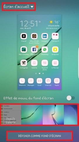 Personnaliser Samsung thème sonnerie fond d'écran