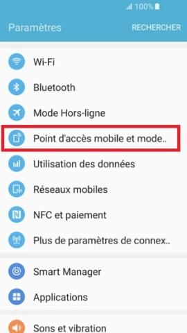 internet Samsung android 6-modem