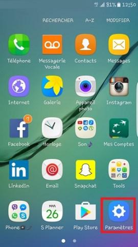 Personnaliser Samsung thème sonnerie fond d'écran paramètres