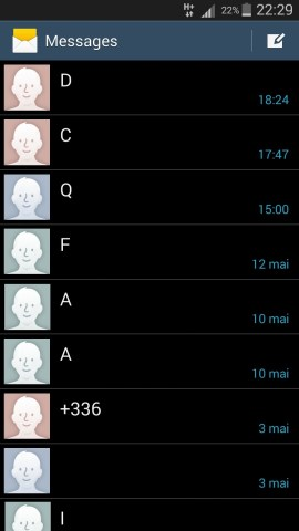 SMS Samsung android 4 message 2