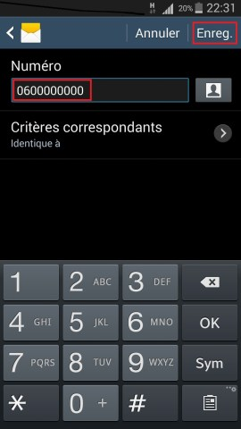 SMS Samsung android 4 message spam ajout 2