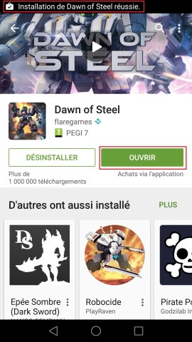 Applications Huawei android 6.0 playstore ouvrir