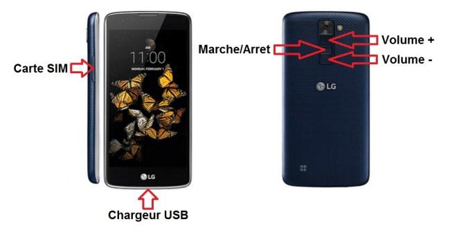 LG K10 bouton