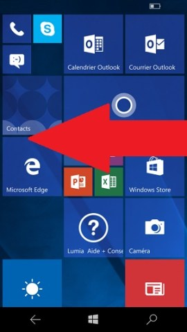 email Lumia windows 10 email messagerie