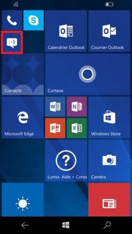 SMS Microsoft Lumia Windows 10 ecrire messages