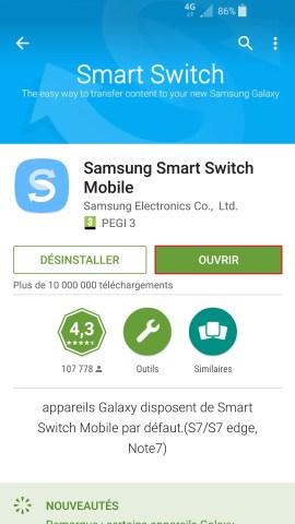 Transférer ses données Samsung-smart-switch-ouvrir