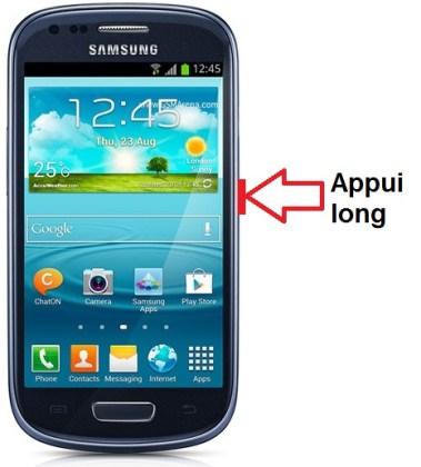 Samsung Galaxy S3 Mini allumage