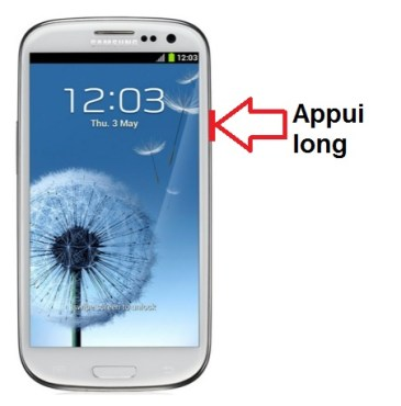 Samsung Galaxy S3 allumage