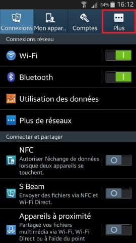 contact code pin ecran verrouillage Samsung (android 4.4) parametre plus