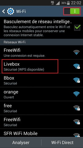 internet Samsung android 4 wifi 2
