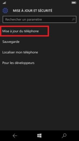 Sauvegarder réinitialiser restaurer mettre à jour son Lumia