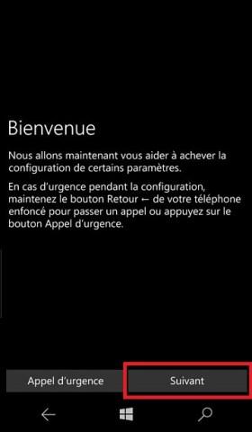 Activation Microsoft Lumia Windows 10 bienvenue 4