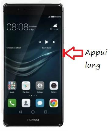 Huawei P9 allumage