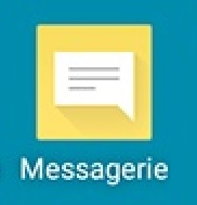 SMS LG android 5 . 1 icone message