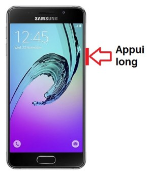 Samsung Galaxy A3 2016 allumage