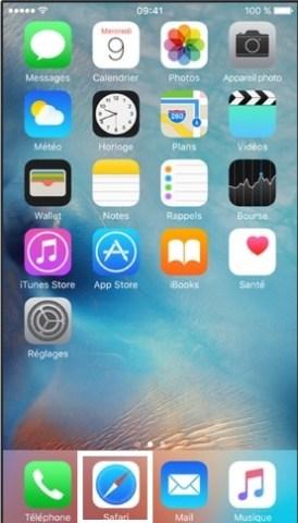 iPhone 6 safari icone