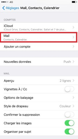 iphone 6 mail supprimer