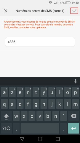 SMS Huawei android 6 . 0 centre SMS