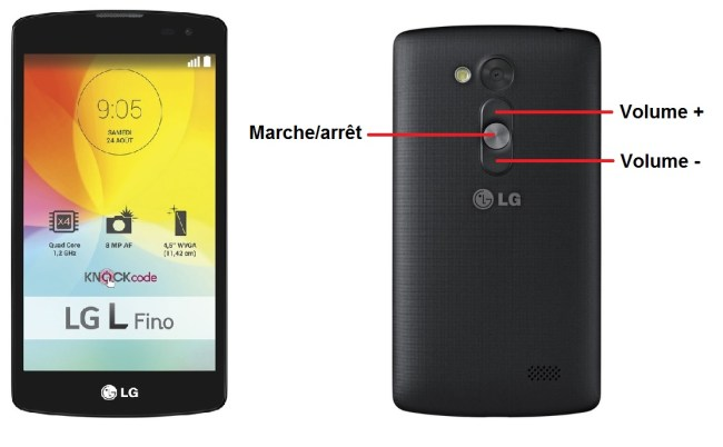 LG LFino bouton