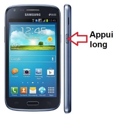 Samsung Galaxy Core Duos allumage