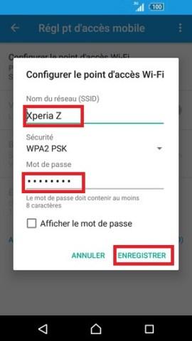 internet Sony android 6 . 0 partage enregistrer