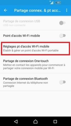 internet Sony android 6 . 0 reglages partage