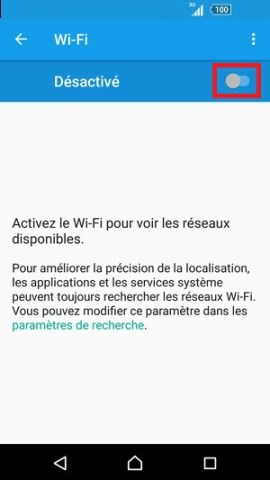 internet Sony android 6 . 0 wifi activer