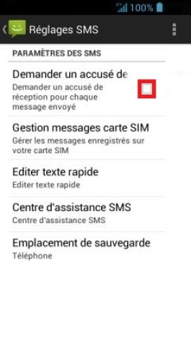 SMS Acer android 4 . 2-accuse de reception