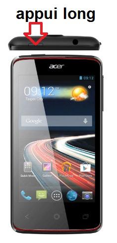 Acer Liquid Z4 allumage