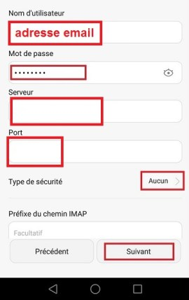 mail Huawei mail manuel