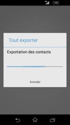 contact code pin ecran verrouillage Sony (android 4.4) contact exporter 2