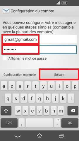 mail Sony android 4.4 email