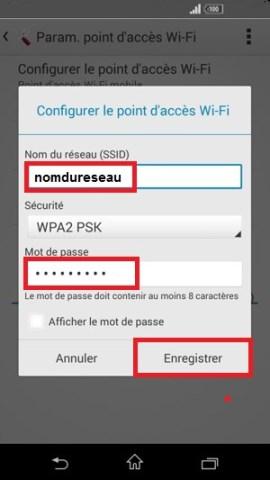 internet Sony android 4 . 4 partage de connexion