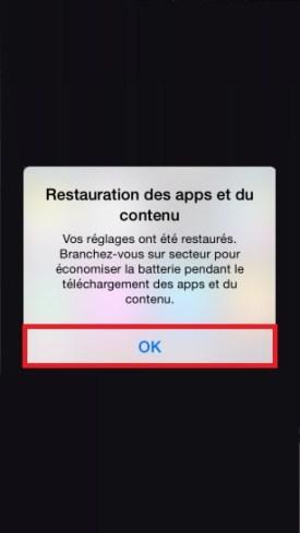 iPhone 6 restauration icloud fini