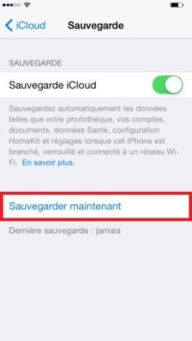 iphone 6 sauvegarde icloud 2