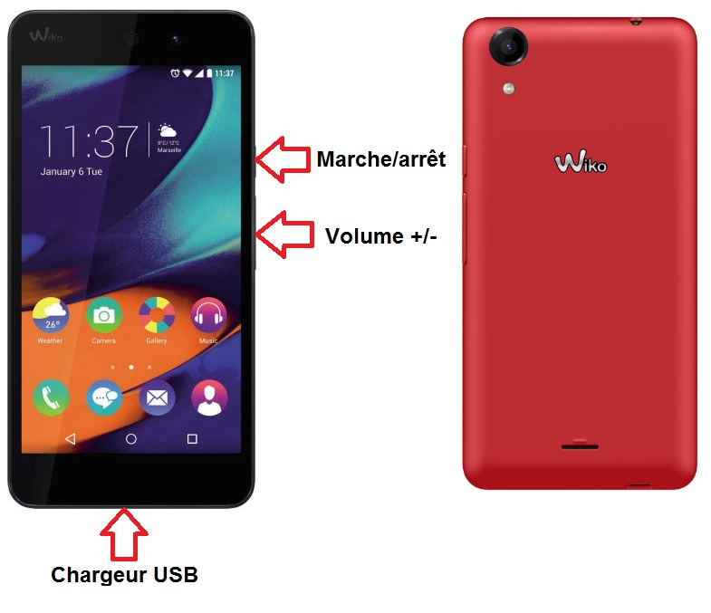Chargeur induction Wiko Rainbow Up 4G | GSM55