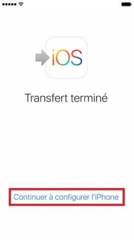 Transférer ses données iPhone-terminer