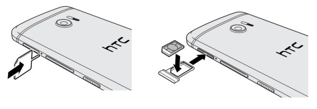 HTC 10-carte-sim