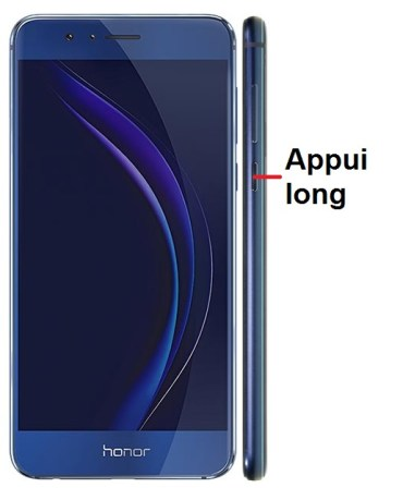 Huawei Honor 8-allumage