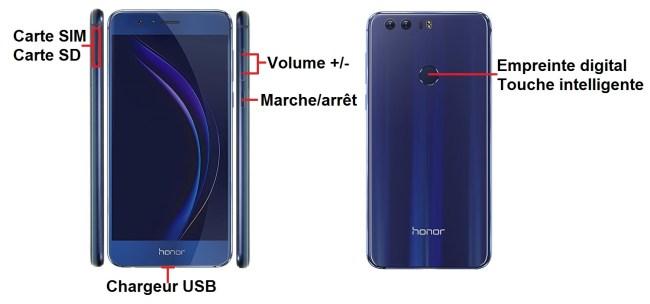 Huawei Honor 8-bouton