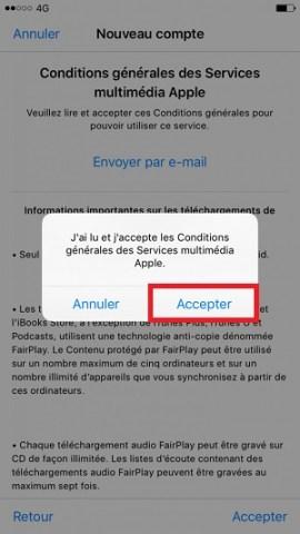 Compte apple conditions générales accepter