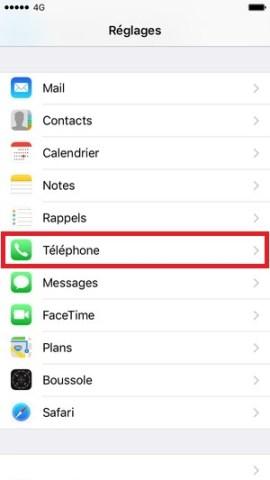 contact code pin ecran verrouillage iphone 6-reglages-telephone
