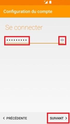 mail Alcatel android 6.0 mot de passe