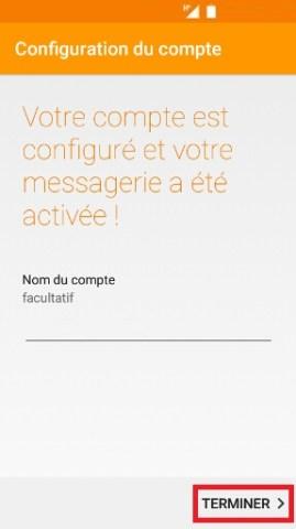 mail Alcatel android 6.0 nom du compte