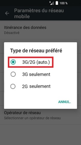 internet Alcatel android 6.0 3G