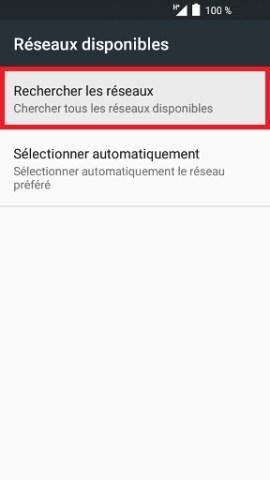 Échec réseau appel Alcatel android 6.0 recherche réseaux