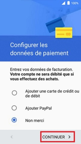 Activation Alcatel paiement