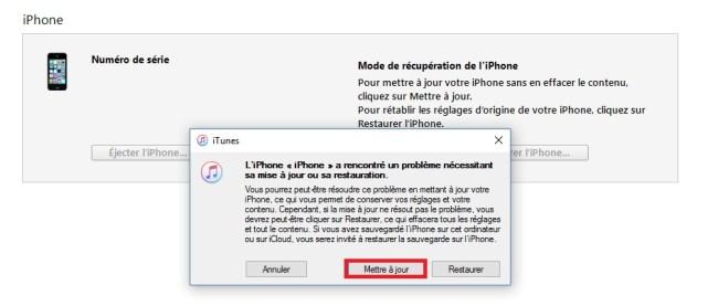 Mode récupération iphone 7 mettre a jour