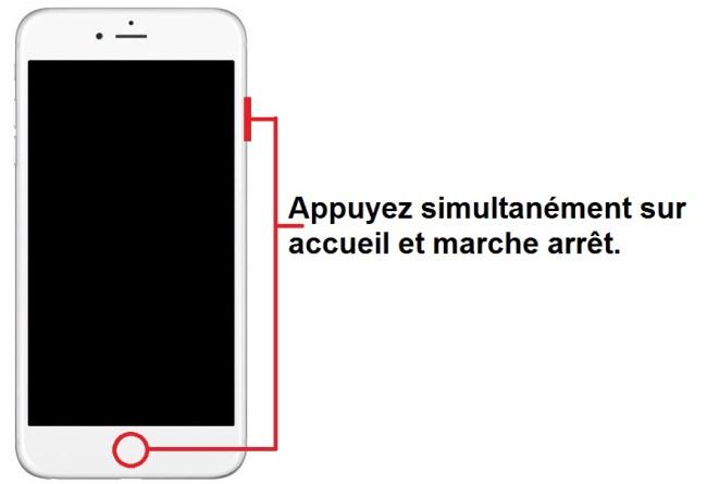 Mode récupération iphone 6